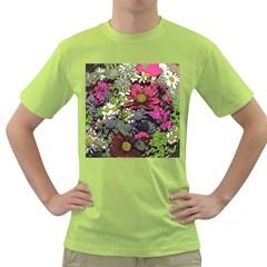 Amazing Garden Flowers 21 Green T Shirt
