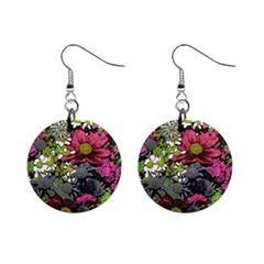 Amazing Garden Flowers 21 Mini Button Earrings