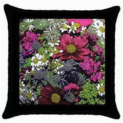 Amazing Garden Flowers 21 Throw Pillow Cases (black)