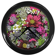 Amazing Garden Flowers 21 Wall Clocks (black)