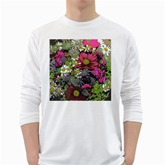 Amazing Garden Flowers 21 White Long Sleeve T Shirts