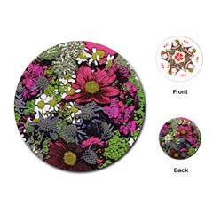 Amazing Garden Flowers 21 Playing Cards (Round)
