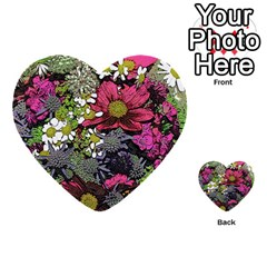 Amazing Garden Flowers 21 Multi-purpose Cards (Heart)