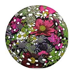 Amazing Garden Flowers 21 Ornament (round Filigree)