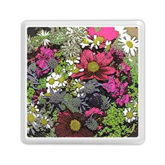 Amazing Garden Flowers 21 Memory Card Reader (Square)