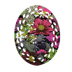 Amazing Garden Flowers 21 Ornament (Oval Filigree)