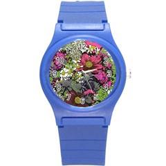 Amazing Garden Flowers 21 Round Plastic Sport Watch (s)