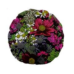 Amazing Garden Flowers 21 Standard 15  Premium Round Cushions