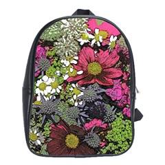 Amazing Garden Flowers 21 School Bags (xl)