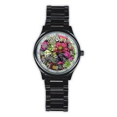 Amazing Garden Flowers 21 Stainless Steel Round Watches