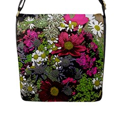 Amazing Garden Flowers 21 Flap Messenger Bag (l)