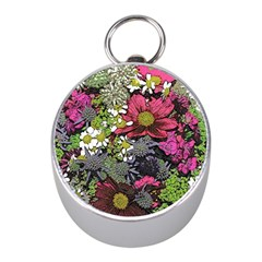 Amazing Garden Flowers 21 Mini Silver Compasses