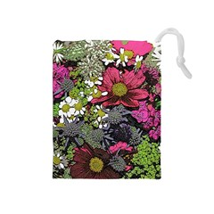 Amazing Garden Flowers 21 Drawstring Pouches (medium)