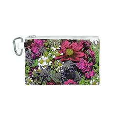 Amazing Garden Flowers 21 Canvas Cosmetic Bag (S)