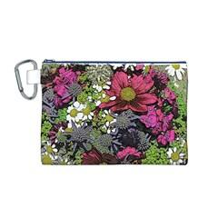 Amazing Garden Flowers 21 Canvas Cosmetic Bag (M)