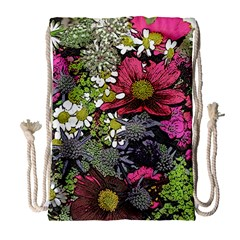 Amazing Garden Flowers 21 Drawstring Bag (Large)