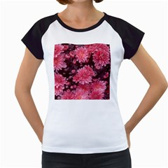 Awesome Flowers Red Women s Cap Sleeve T