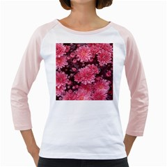 Awesome Flowers Red Girly Raglans