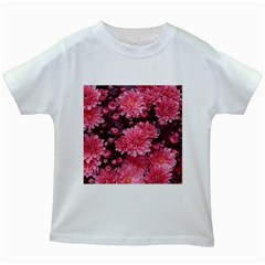 Awesome Flowers Red Kids White T-Shirts