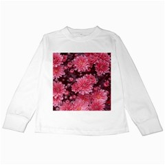 Awesome Flowers Red Kids Long Sleeve T-Shirts