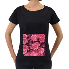 Awesome Flowers Red Women s Loose-Fit T-Shirt (Black)