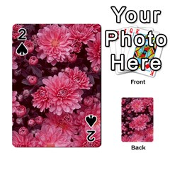 Awesome Flowers Red Playing Cards 54 Designs