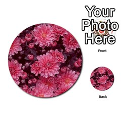 Awesome Flowers Red Multi Purpose Cards (round)