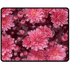 Awesome Flowers Red Fleece Blanket (Medium)