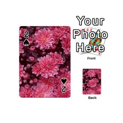 Awesome Flowers Red Playing Cards 54 (Mini)