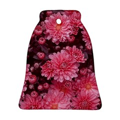 Awesome Flowers Red Bell Ornament (2 Sides)