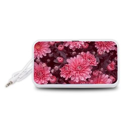 Awesome Flowers Red Portable Speaker (White)