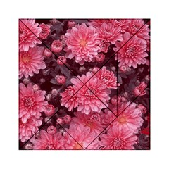 Awesome Flowers Red Acrylic Tangram Puzzle (6  x 6 )