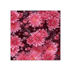 Awesome Flowers Red Acrylic Tangram Puzzle (4  x 4 )