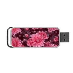 Awesome Flowers Red Portable Usb Flash (one Side)