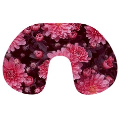 Awesome Flowers Red Travel Neck Pillows