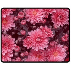Awesome Flowers Red Double Sided Fleece Blanket (Medium)