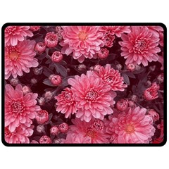 Awesome Flowers Red Double Sided Fleece Blanket (large)