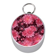 Awesome Flowers Red Mini Silver Compasses