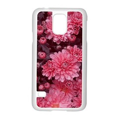 Awesome Flowers Red Samsung Galaxy S5 Case (white)