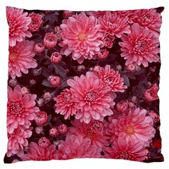 Awesome Flowers Red Standard Flano Cushion Cases (One Side)
