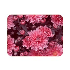 Awesome Flowers Red Double Sided Flano Blanket (Mini)