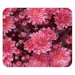 Awesome Flowers Red Double Sided Flano Blanket (Small)