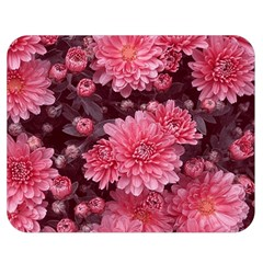 Awesome Flowers Red Double Sided Flano Blanket (Medium)