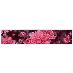 Awesome Flowers Red Flano Scarf (Small)