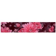 Awesome Flowers Red Flano Scarf (Large)