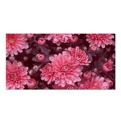 Awesome Flowers Red Satin Shawl