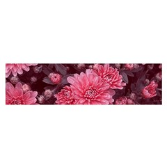 Awesome Flowers Red Satin Scarf (Oblong)