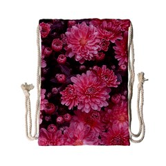 Awesome Flowers Red Drawstring Bag (small)