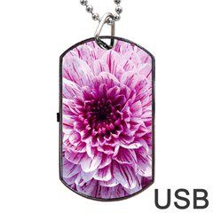 Wonderful Flowers Dog Tag USB Flash (One Side)