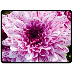 Wonderful Flowers Double Sided Fleece Blanket (Large)